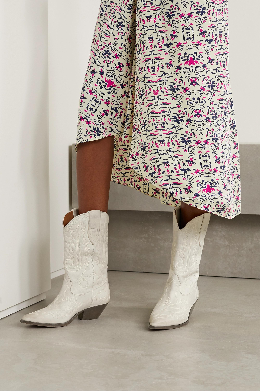 Isabel Marant Duerto Stiefel aus Leder mit Stickereien