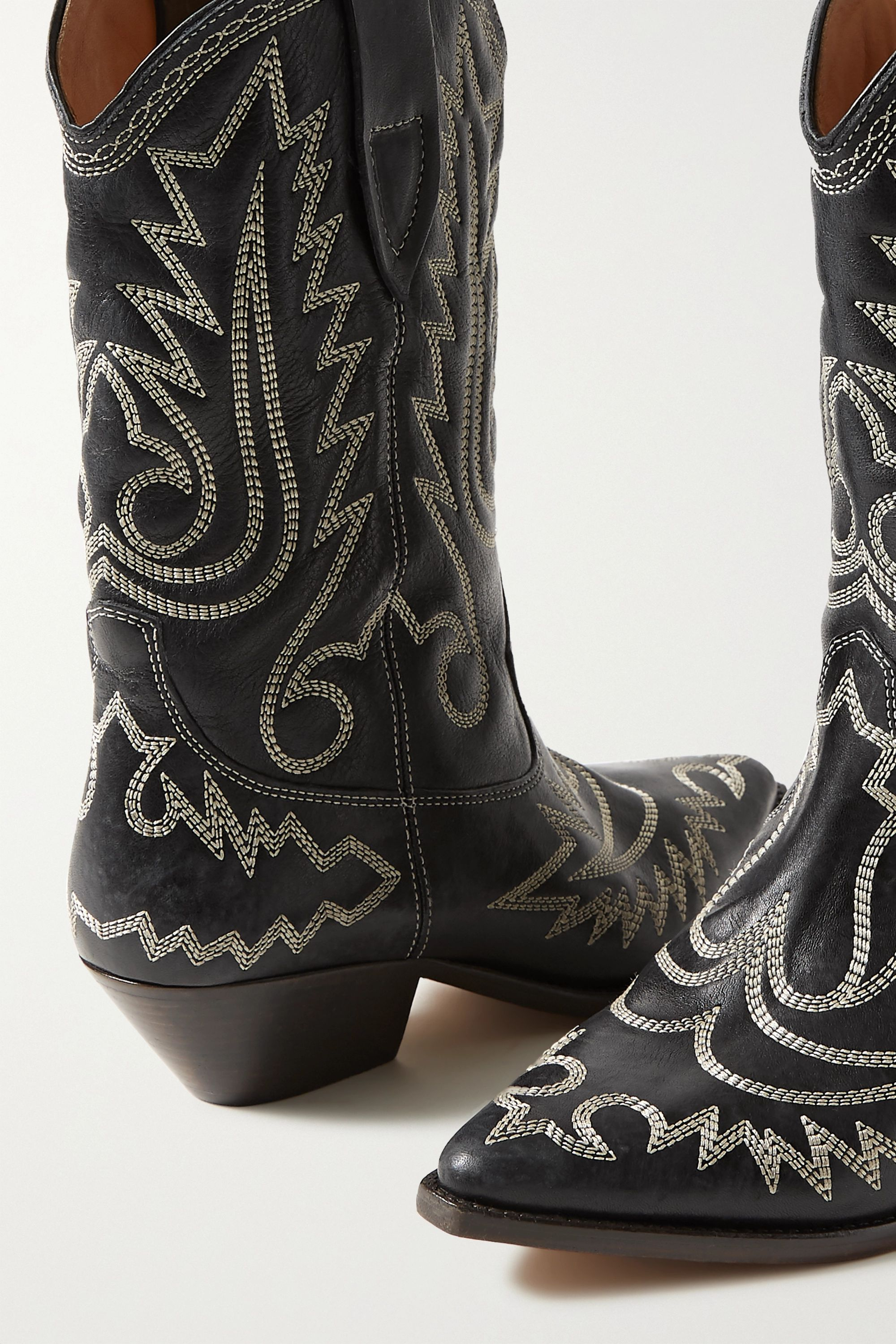 Isabel Marant Duerto embroidered leather boots