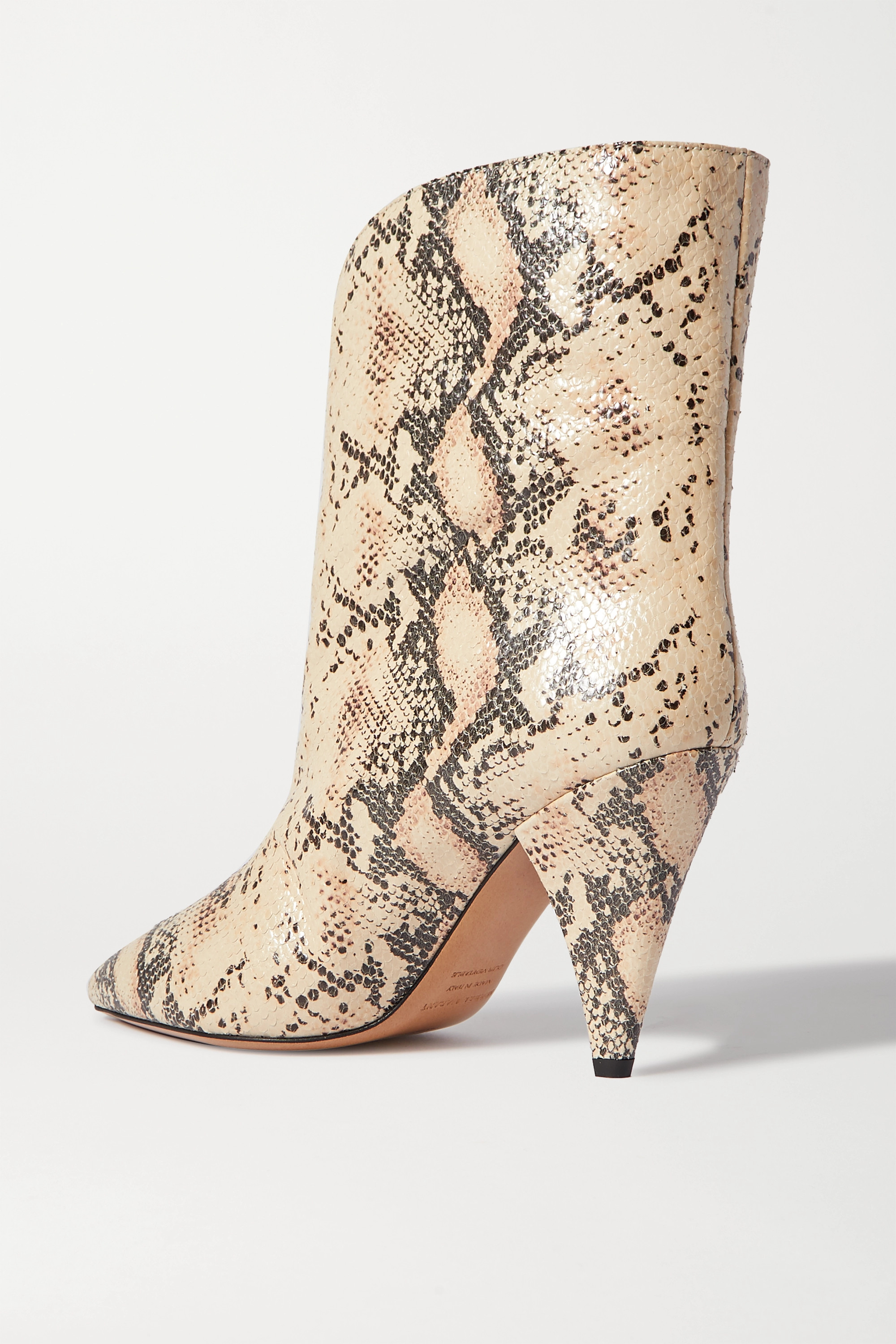 Isabel Marant Leinee snake-effect leather ankle boots