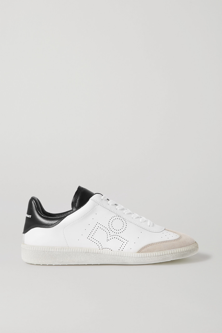 Isabel Marant Bryce suede-trimmed perforated leather sneakers