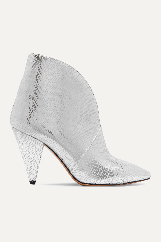 Isabel Marant Archenn metallic lizard-effect leather ankle boots