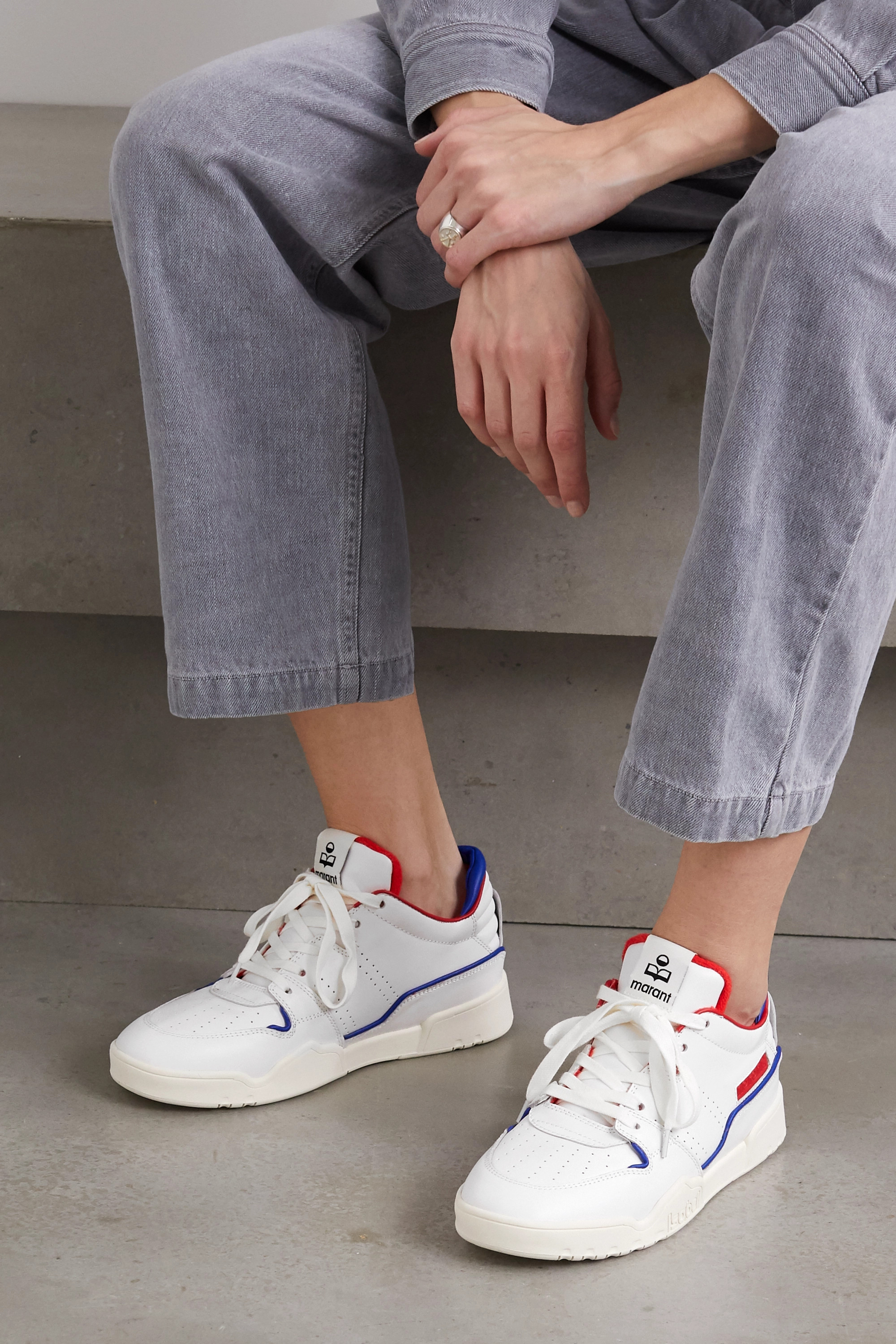 Isabel Marant Emree perforated leather sneakers