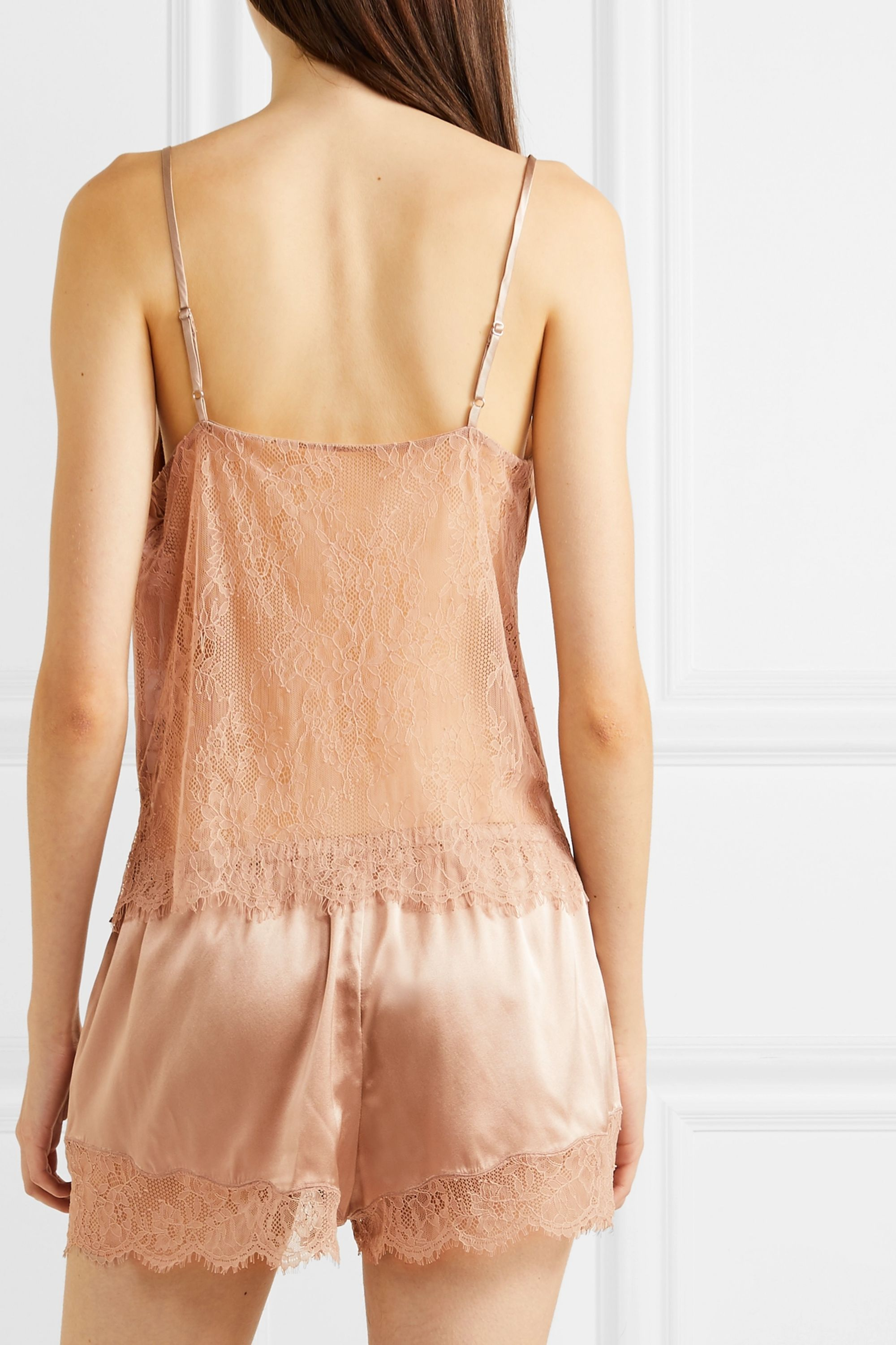 Cami NYC Perry lace-trimmed stretch-silk charmeuse pajama set