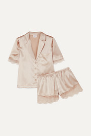 Cami NYC Sahar lace-trimmed stretch-silk charmeuse pajama set