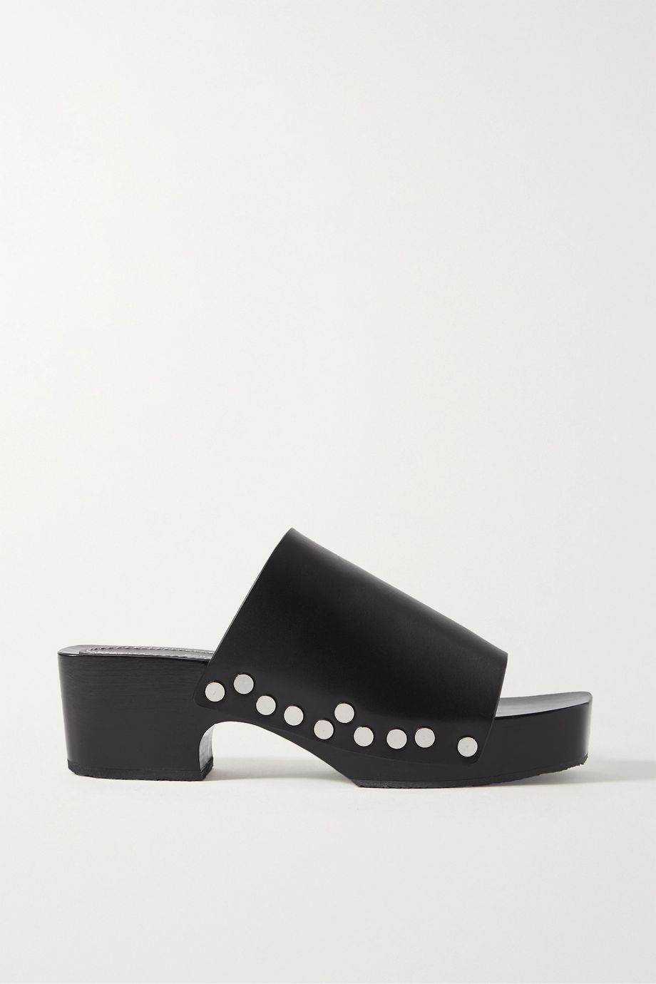 Proenza Schouler Studded leather platform mules