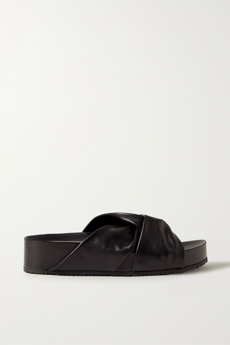 Proenza Schouler Knotted leather slides