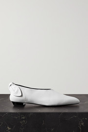 Proenza Schouler Bow-embellished leather ballet flats