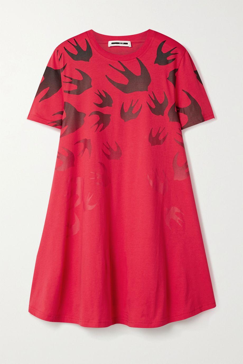 McQ Alexander McQueen Printed cotton-jersey mini dress