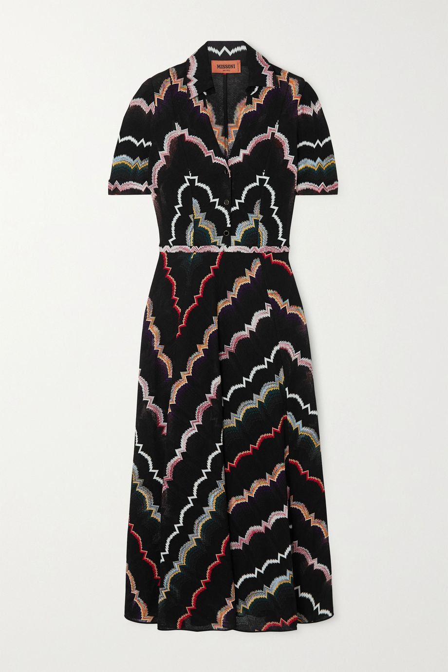 Missoni Crochet-knit cotton-blend midi dress