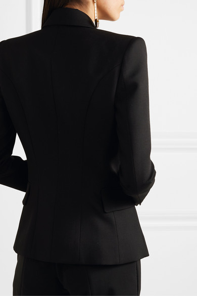 Balmain Blazers Double-breasted wool-twill blazer