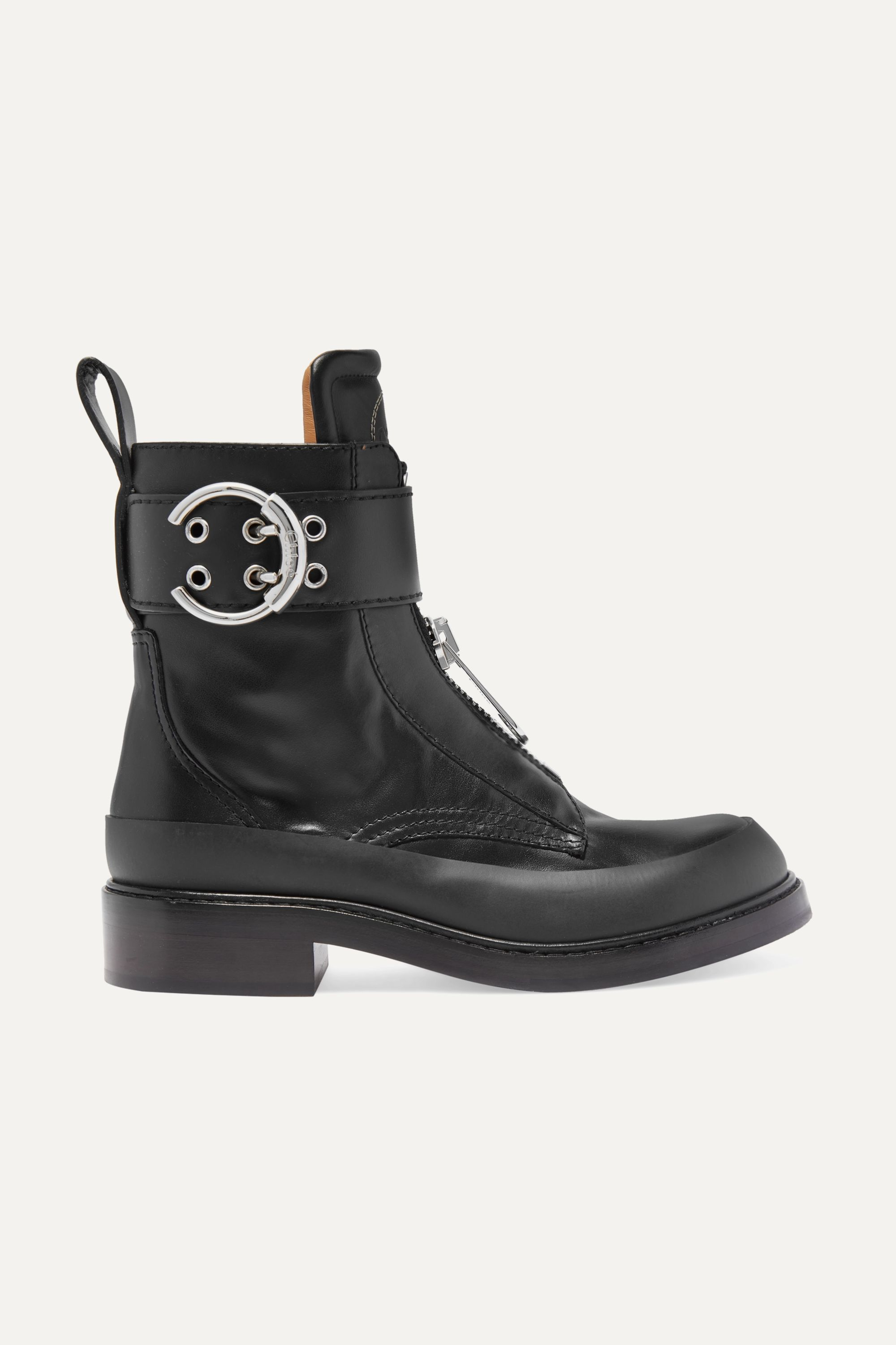 Chloé Roy rubber-trimmed leather ankle boots