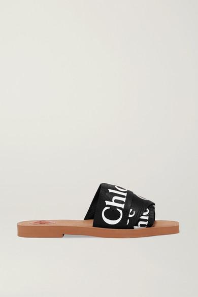 ChloÉ Women's Slippers Sandals  Woody In Black