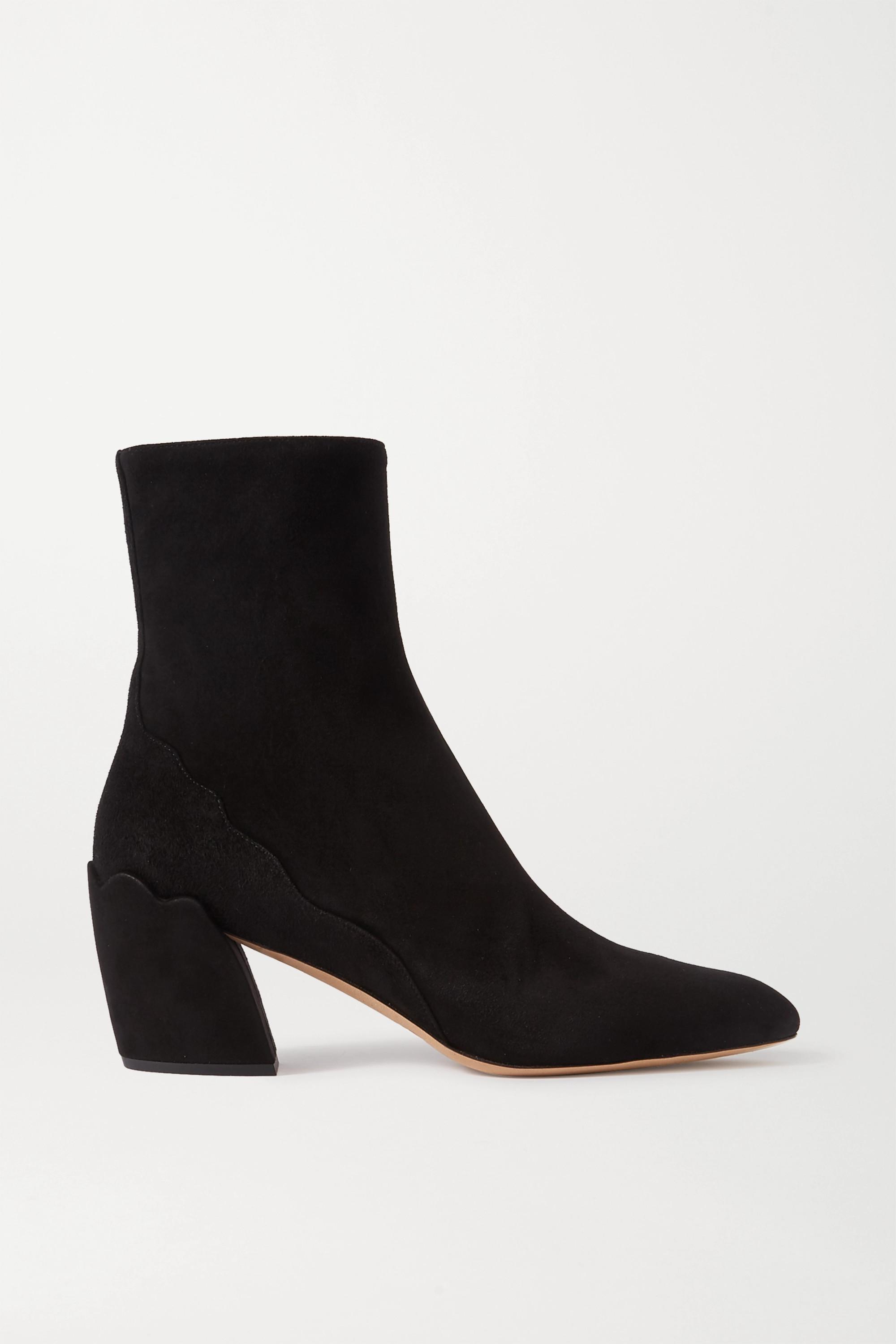 Black Lauren suede ankle boots | Chloé