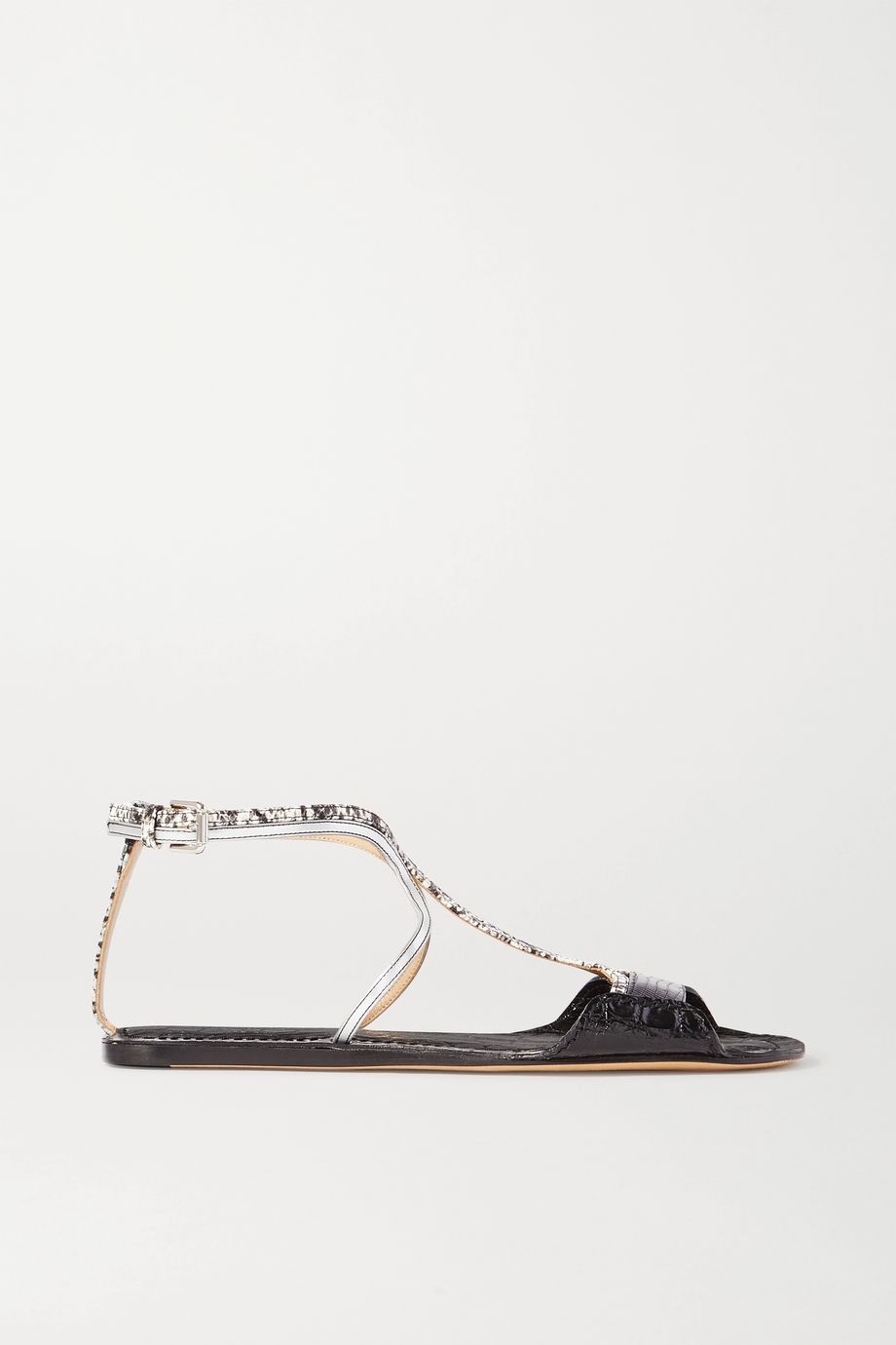 Chloé Carla paneled leather sandals