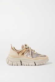 Chloé Blake suede, leather and mesh sneakers