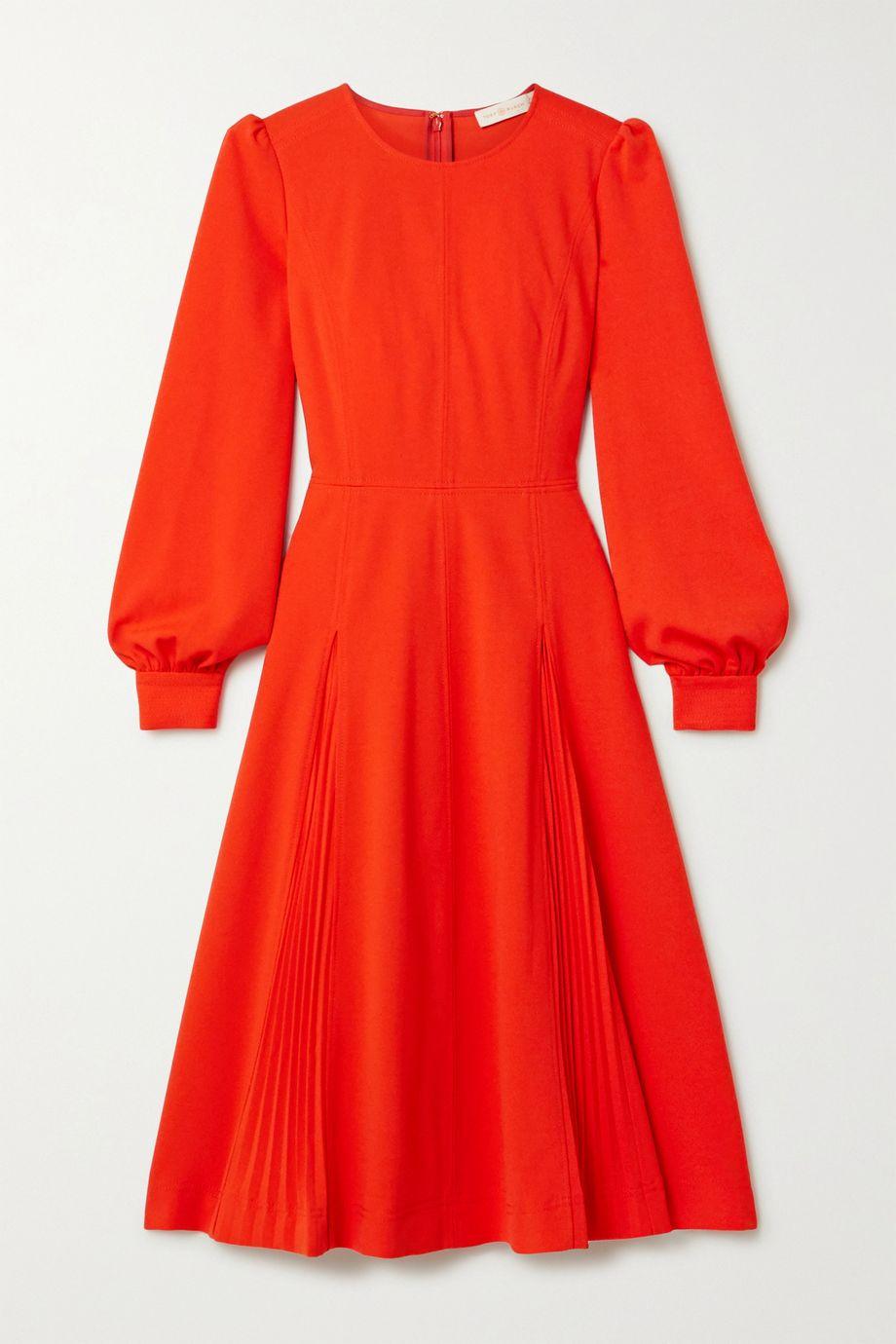 Tory Burch Pleated crepe dress