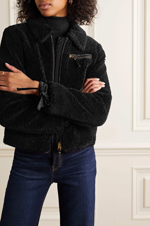 Tory Burch Faux shearling bomber jacket