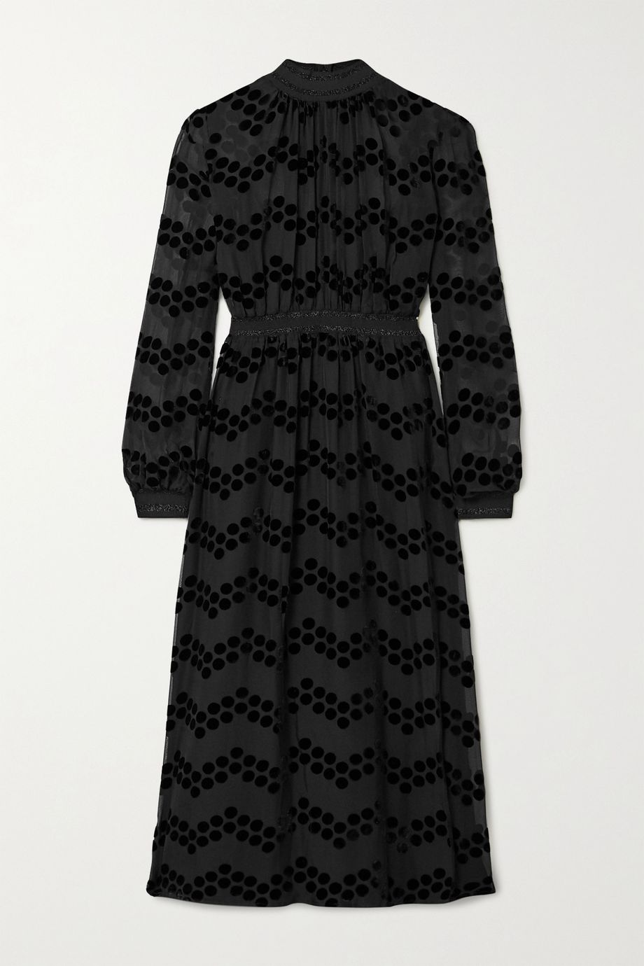 Tory Burch Polka-dot flocked chiffon midi dress