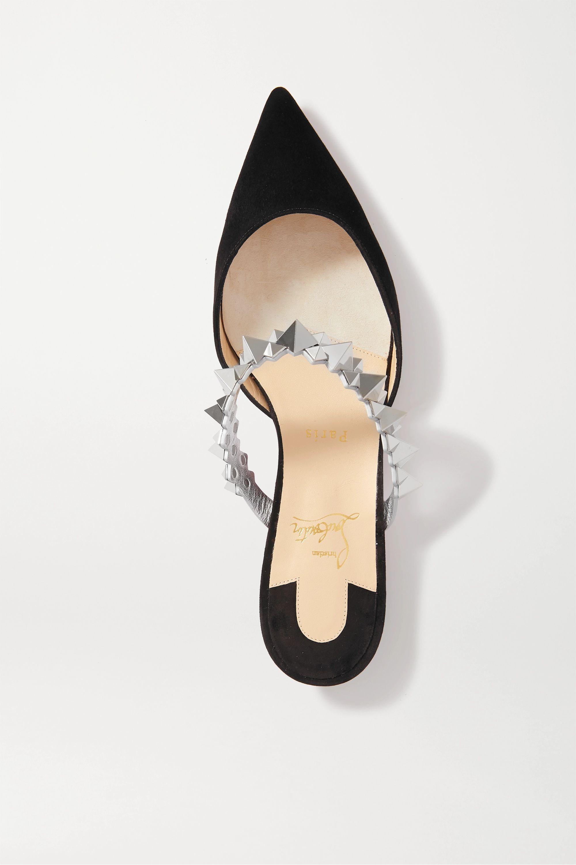 Christian Louboutin Planet Choc 铆钉绒面革拖鞋
