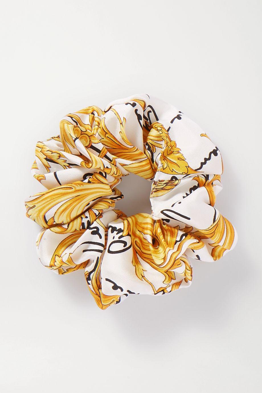 Versace 印花真丝斜纹布发圈