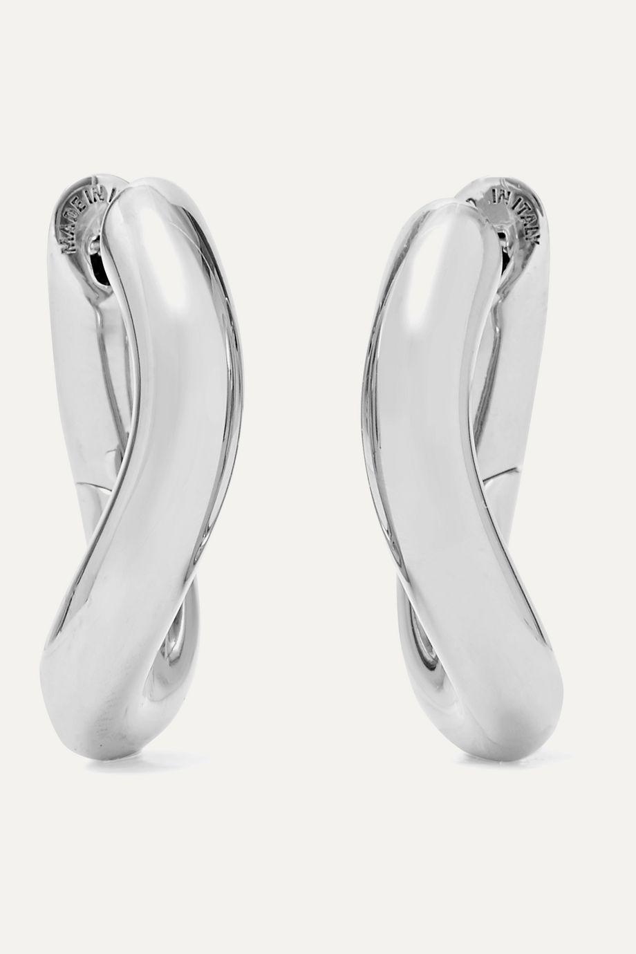 Balenciaga Loop XS silver-tone hoop earrings