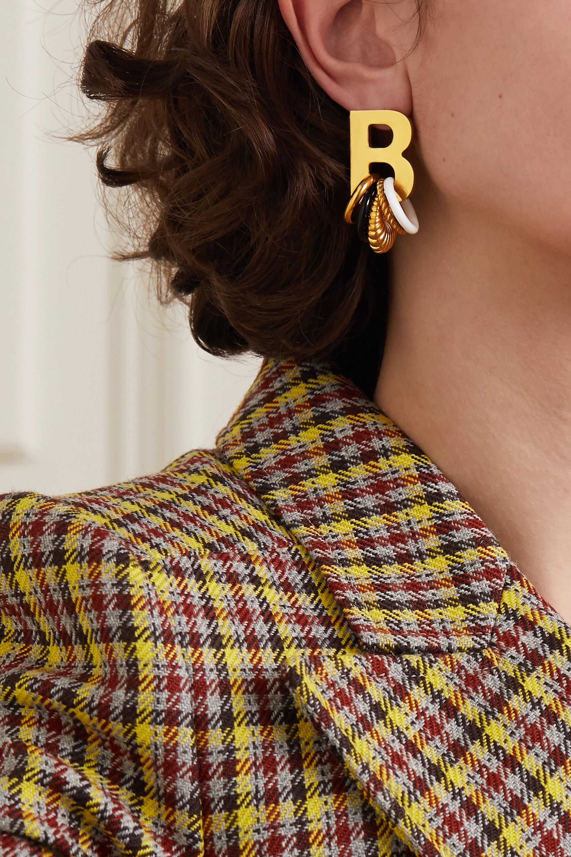 Balenciaga Gold-tone and enamel earrings