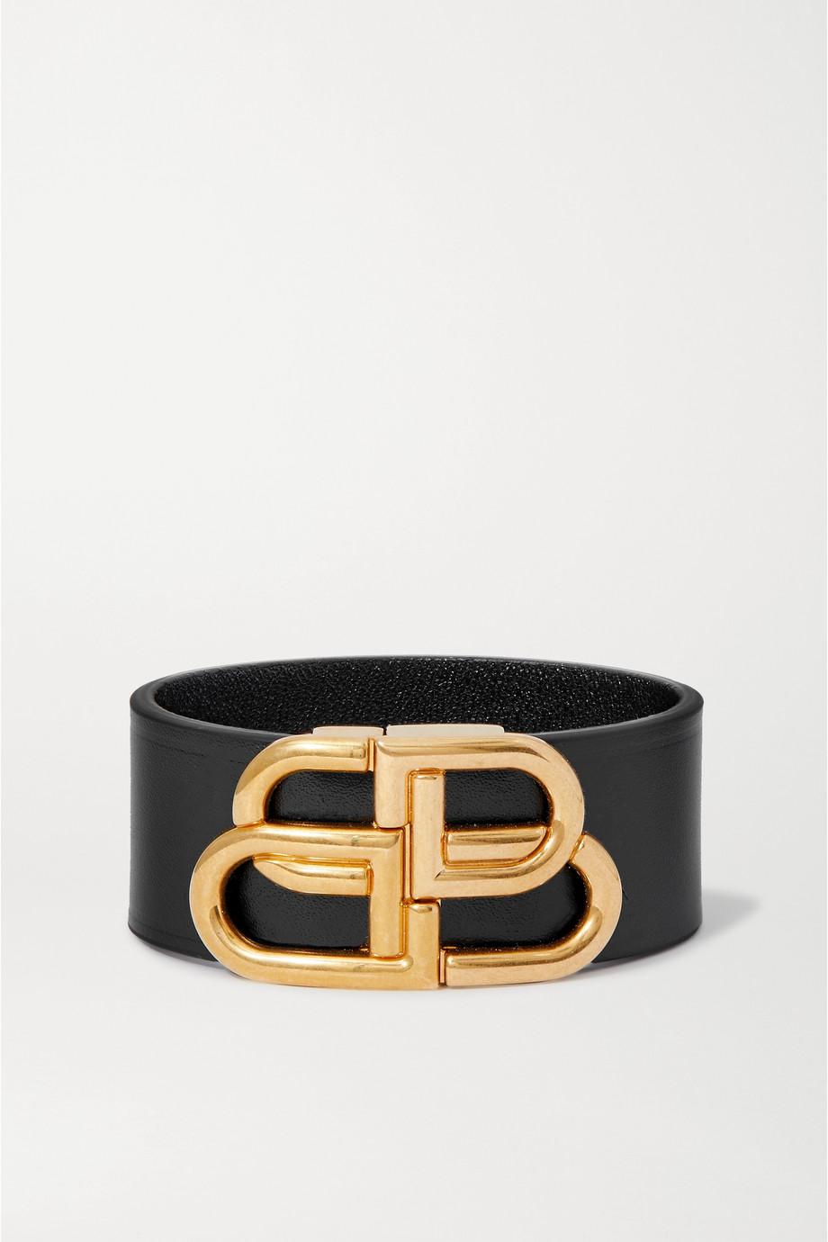 Balenciaga Leather and gold-tone bracelet
