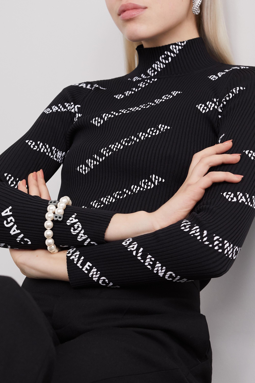 Balenciaga Faux pearl and silver-tone bracelet