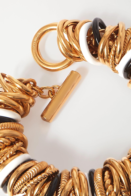 Balenciaga Gold-tone and enamel bracelet