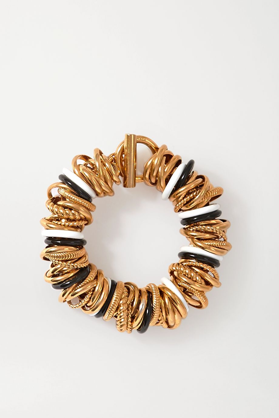 Balenciaga Gold-tone and enamel bracelet