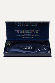 Slip Leo embroidered mulberry silk eye mask