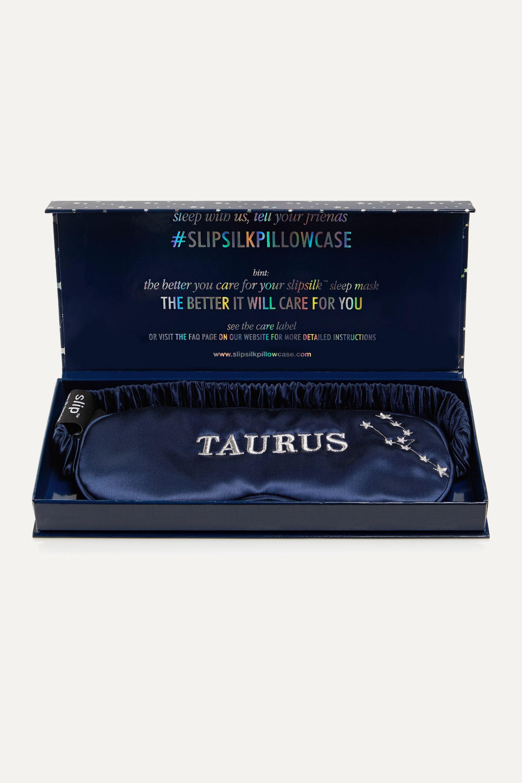 Slip Taurus embroidered mulberry silk eye mask