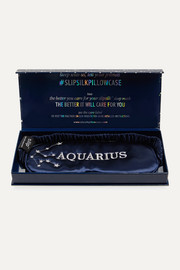 Slip Aquarius embroidered mulberry silk eye mask