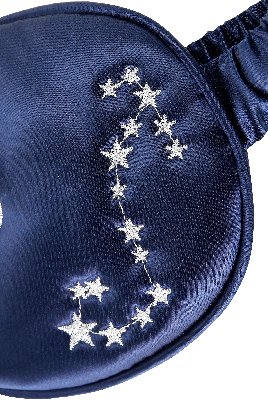 Slip Scorpio embroidered mulberry silk eye mask