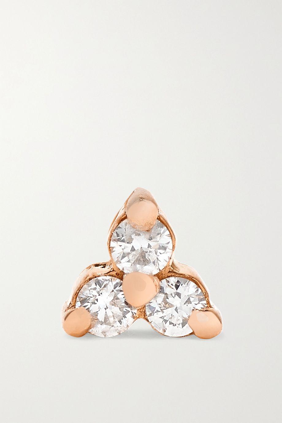 Maria Tash Tiny 14-karat rose gold diamond earring