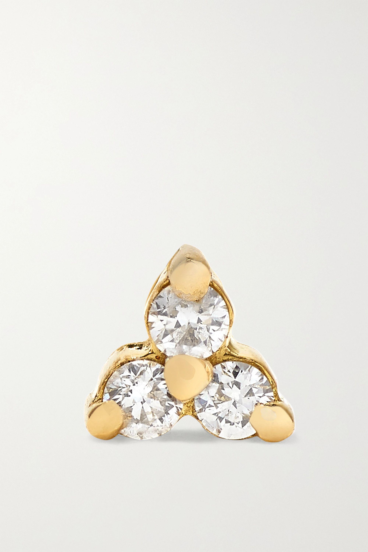 MARIA TASH Tiny Ohrring aus 18 Karat Gold mit Diamanten