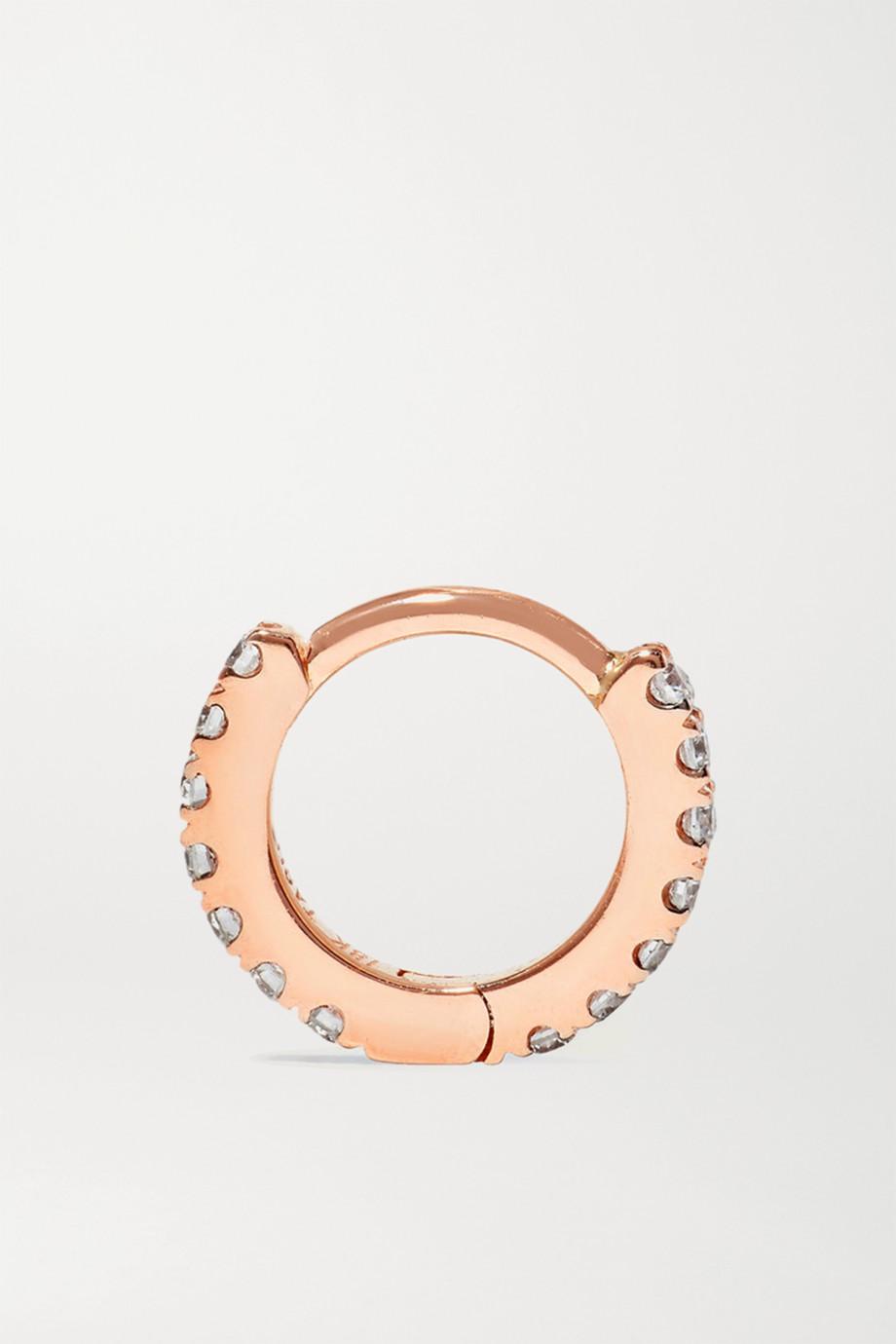 Maria Tash 5mm 18-karat rose gold diamond hoop earring