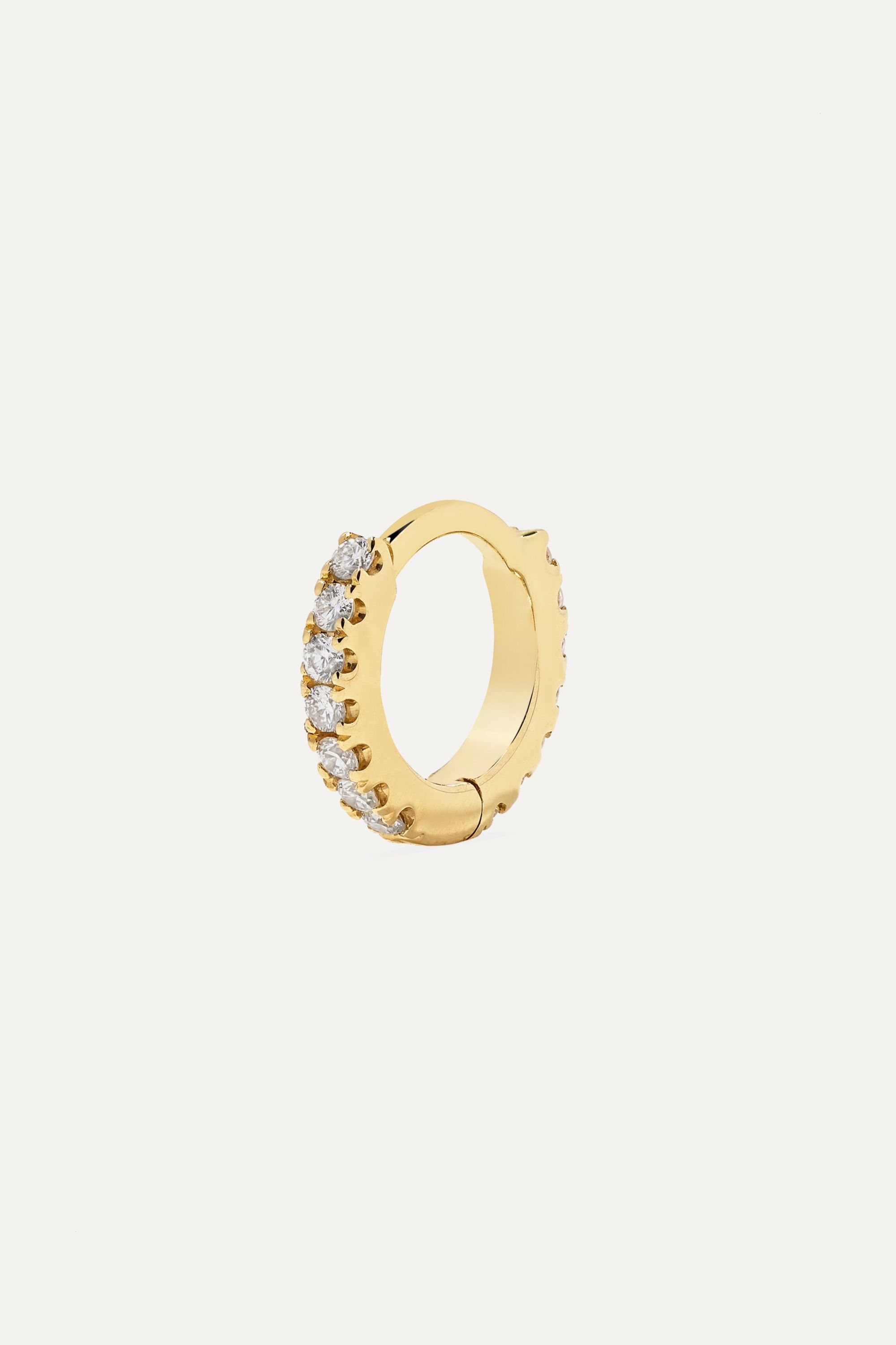 Maria Tash Mini 18-karat gold diamond hoop earring