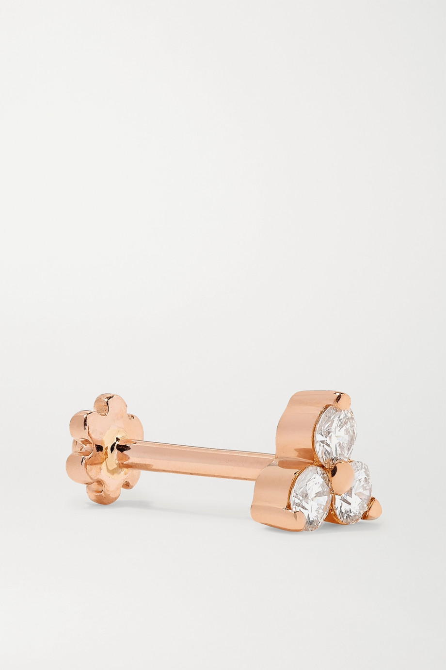 Maria Tash 18-karat rose gold diamond earring