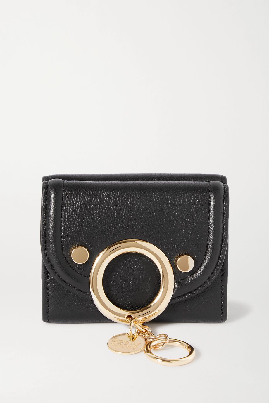See By Chloé Mara mini embellished textured-leather wallet