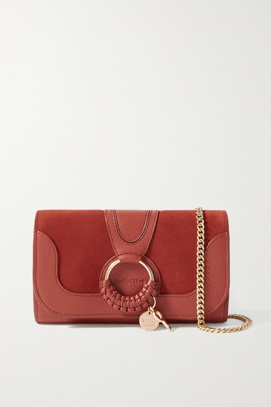See By Chloé Hana suede and textured-leather shoulder bag