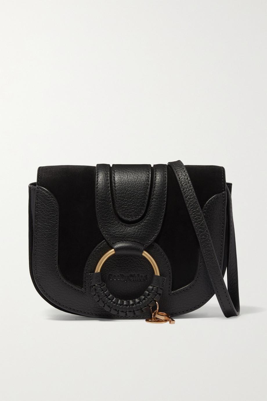 씨 바이 끌로에 하나백 - 블랙 See by Chloe Hana mini textured-leather and suede shoulder bag