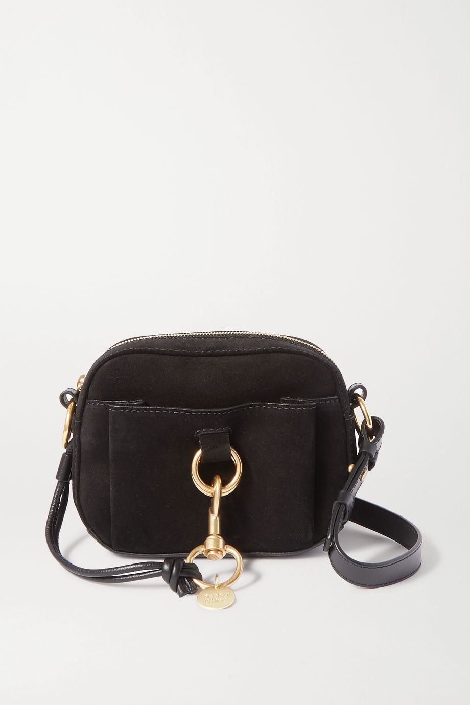 See By Chloé Tony suede and textured-leather shoulder bag