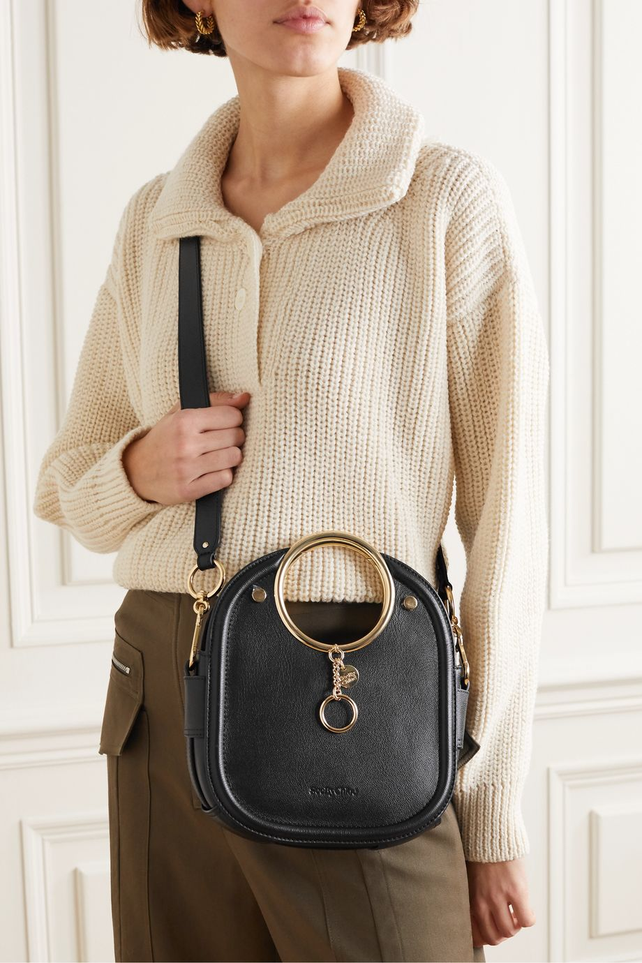 See By Chloé Mara small textured-leather shoulder bag