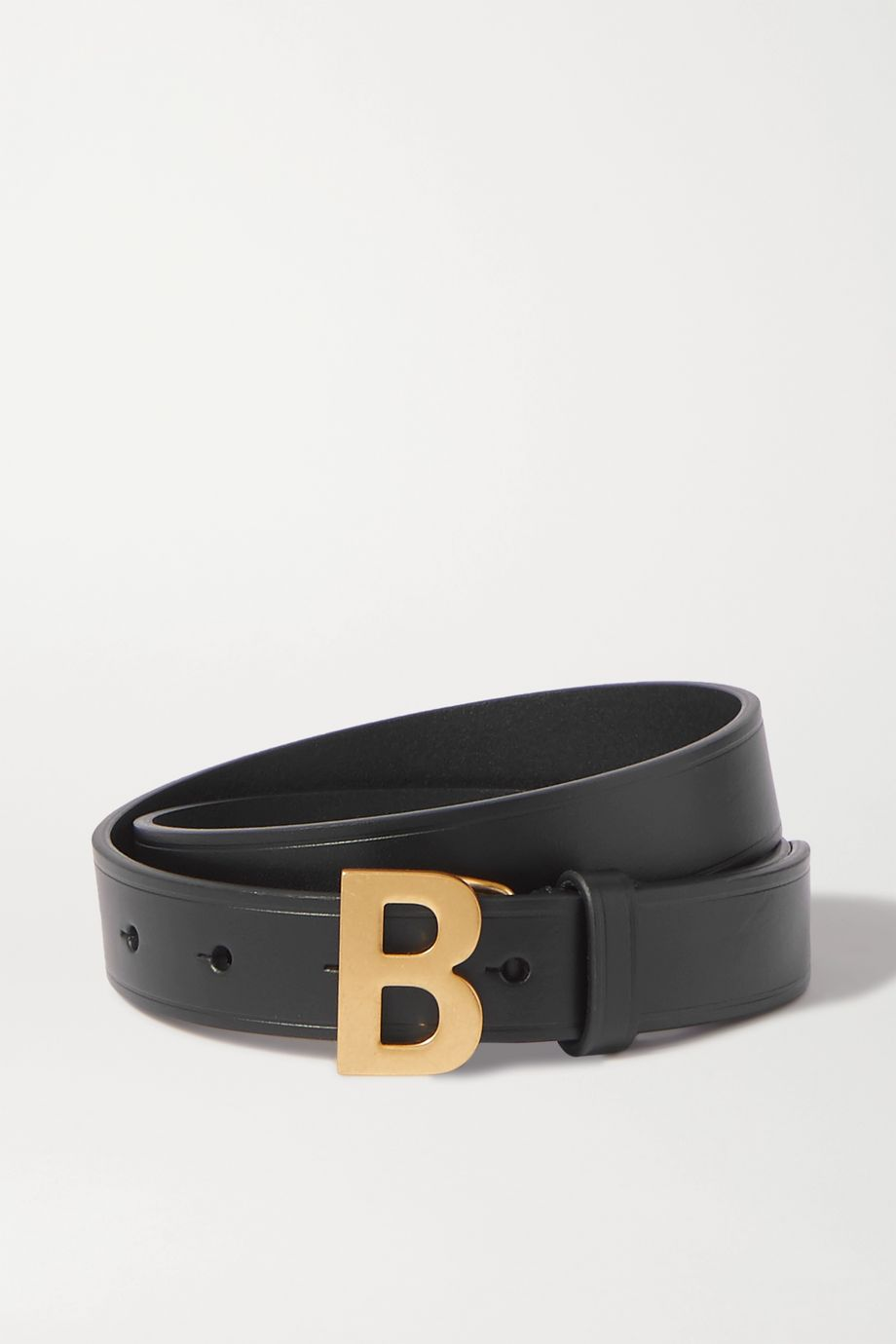 Balenciaga B leather waist belt