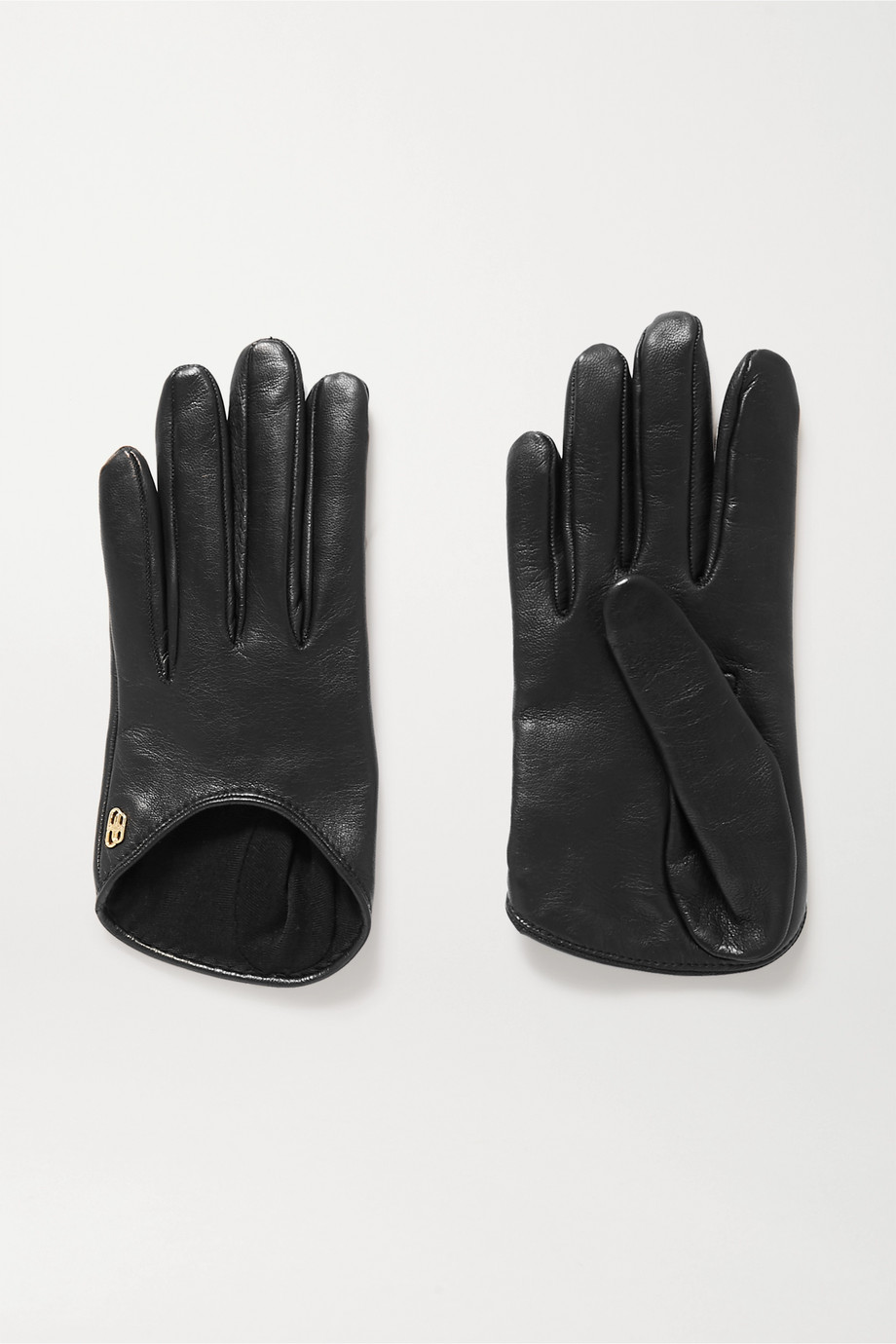 Balenciaga Embellished leather gloves