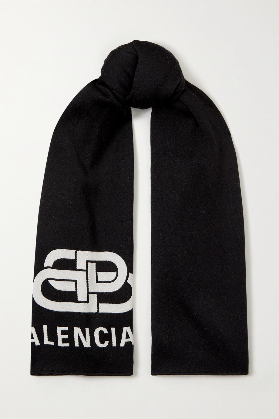 Balenciaga 嵌花羊毛围巾