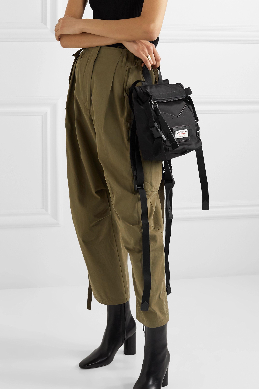 Givenchy Rucksack aus Shell mit Lederbesätzen