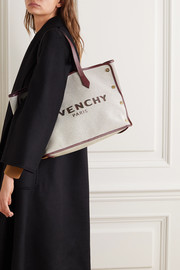 Givenchy Cabas medium leather-trimmed printed canvas tote