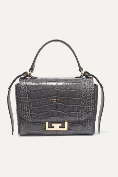 Eden Mini Croc Effect Leather Shoulder Bag by Givenchy